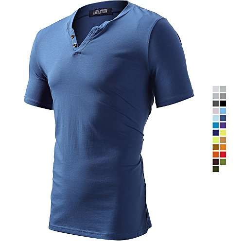 Casual Regular Fit Short Sleeve Basic Stylish T-Shirts Cotton Shirts Summer Tops for Men Sapphire Size 2XL by FLY HAWK