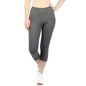 iLoveSIA Women's Tights Capri Yoga Workout Leggings Pants US Size XL Grey