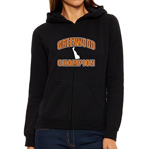 Eddany Greenwood champion Women Zip Hoodie (Zip Greenwood City)
