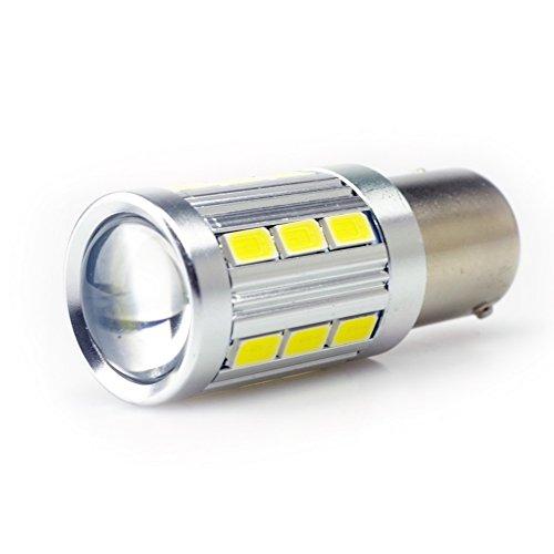 iDlumina 1156 BA15S 1073 1093 1129 1141 1159 1195 1251 1295 1459 2396 3496 3497 7506 7527 5008 5007 R5W 12V White LED Car Light Bulb 21X5730SMD for Turn Signal Brake Parking Tail Light (Pack of 2)