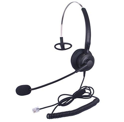 Audicom H200GXPA Mono Call Center Headphone Headset with Mic for Avaya 1608 1616 9620 9630 9640 9640G and 9650 and Altigen 805 Cortelco Fanvil C58 C58P C62 C66 Telephone IP Phones