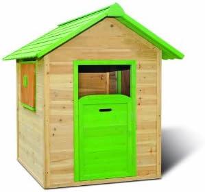 Jardín de casa/Niños de casa de juguete para el jardín en medidas 120 x 140 x 133 cm (ancho x profundidad x altura) de parcialmente Colores behandelten Madera: Amazon.es: Jardín