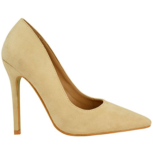 Fashion Thirsty Womens Pointed Toe High Heel Sandals Party Pumps Court Shoes Size Nude Faux Suede 1Dd4Cyx