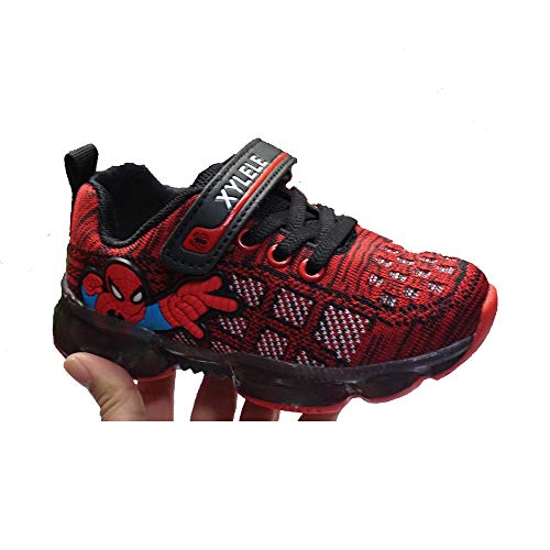ROKIDS LED Light Spiderman Shoes Boys Girls 11.5 Little Kid Red]()