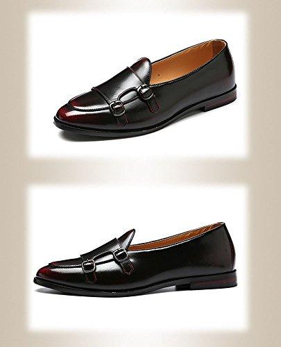 amp;Y Talla Cordones Zapatos 47 Rojo Color con Planos EU J Hombre OZaxdwRaq