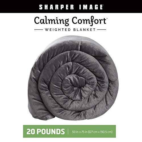 Calming Comfort Weighted Blanket by Sharper Image- A Heavy Blanket| 20 lb. 50