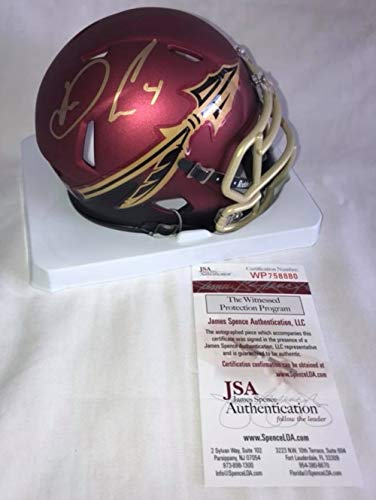 (Dalvin Cook Signed/Autographed Florida State Seminoles Alternate Mini Football Helmet - JSA Certified)