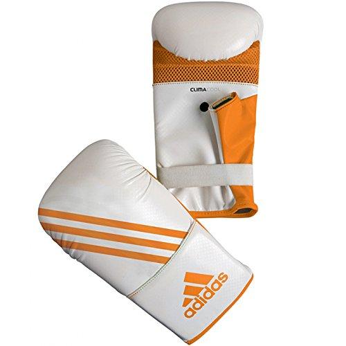 adidas Box-Fit Open Thumb Boxing Bag Gloves - S/M - White/Orange