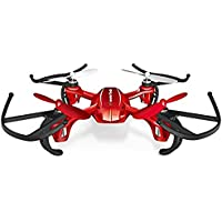 WonderTech Invader Drone RC 6-Axis Gyro Remote Control Quadcopter Flying Drone with LED Lights | RED