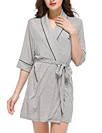 Sissely Robes for Women Women's Bathrobe Night-Robe Sleepwear Pajama XS-XL