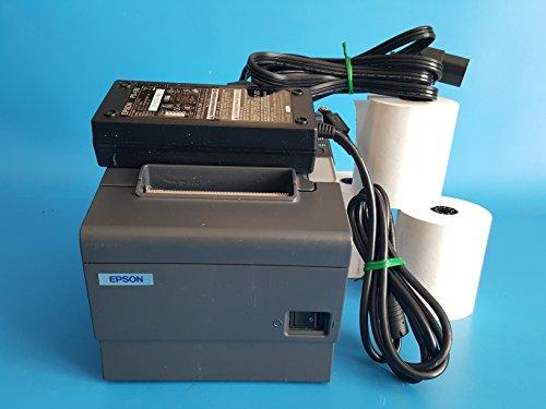 Epson TM-T88IV Model M129H - Dark Gray POS Thermal Receipt Printer USB Port with Epson PS-180 Power Supply & 3 Rolls of Receipt Paper -