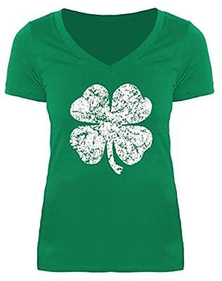 For G and PL St. Patrick's Day Women's Irish V Neck Short Sleeve T Shirt