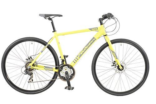 Falcon Men Traffic Hybrid Bike, Yellow, 12 Years