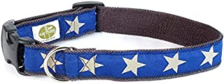 product image for Earth Dog Star Dog Collar, Large Blue