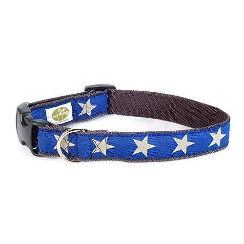 Earth Dog Star Dog Collar, Large Blue