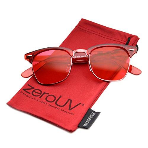 zeroUV - Vintage Inspired Classic Horn Rimmed Nerd Horn Rimmed UV400 Clear Lens Glasses (Colored | - Ray Glasses Bans Nerd