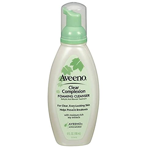 Aveeno Clear Complexion Foaming Cleanser, 6 Ounce