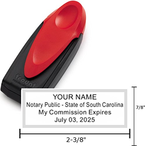 Standard Red Trodat 9413 Mobile Printy Notary Pocket Stamp | South - South Carolina Pocket