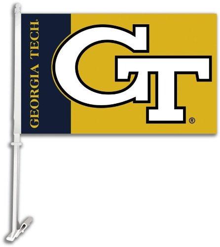 NCAA Georgia Tech Yellowjackets Car Flag