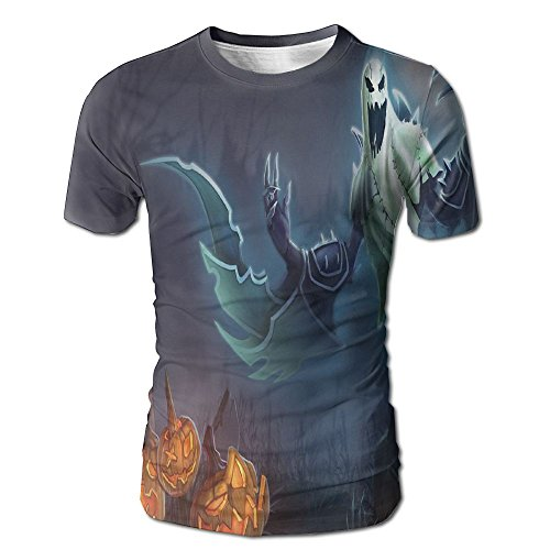 Men's Summer Scary Halloween Ghost Casual Novelty Crew Neck Short Sleeve Tee Shirt Gift ()