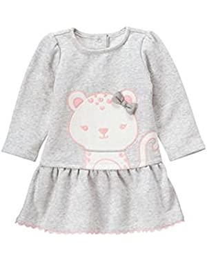 Baby Girl's Fleece Snow Leopard Dress