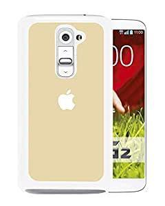Simple Gold Apple Logo (2) Durable High Quality LG G2 Phone Case