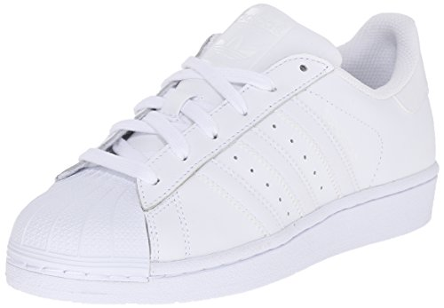 adidas Originals Superstar Foundation J Casual Basketball-Inspired Low-Cut Sneaker (Big Kid),White/White/White,4.5 M US Big Kid