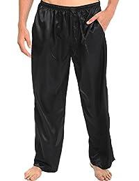 Del Rossa Men's Classic Satin Pajama Pants
