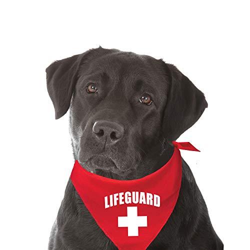 My Dog Bandana Lifeguard Summer Beach/Pool Printed -