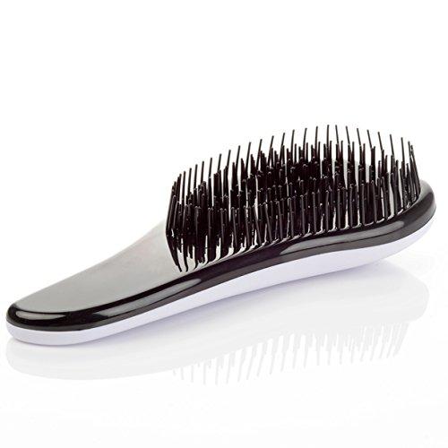 1 Set Combs Hairbrush Hair Brush Magic Handle Tangle Detangling Comb Shower Salon Styling Tamer Tool Soft Pins Combo Pocket Long Round Holder Good-looking Popular Beard Natural Travel Kit, Type-07 (Bass Hair Brush Pocket)