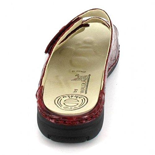Femme 150 Waldläufer 204501 022 Rouge Mules Pour wCXnpZqpgx