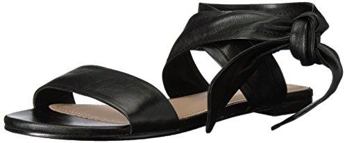 Pour La Victoire Women's Lava Flat Sandal, Black, 7.5 M US by Pour La Victoire