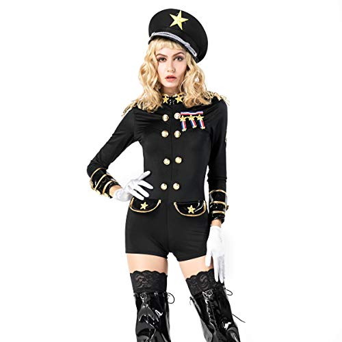 GYH Policewoman Ladies Fancy Dress Cop Officer Uniform Womens Costume Outfit Women Adult Sexy Police Officer Costume ()