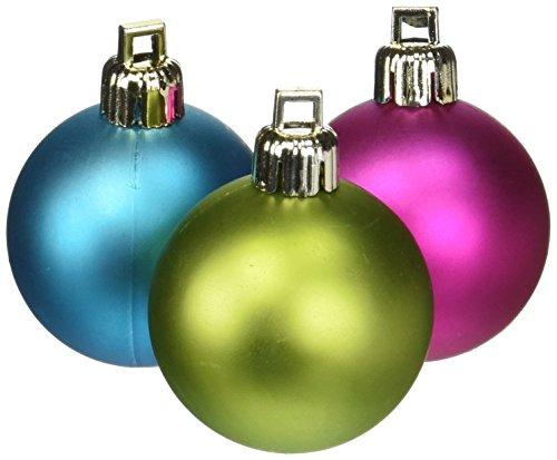 Vickerman Shiny/Matte Balls, Includes 50 Per Box, 1.5 by 2-Inch, Multicolored