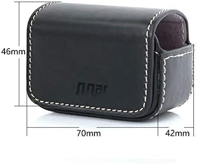 Color : Coffee Waterproof Mini Leather Case Storage Carrying Box for DJI New Action//GoPro//SJCAM//Xiaomi Mi Jia for DJI Gopro Action Camera Black