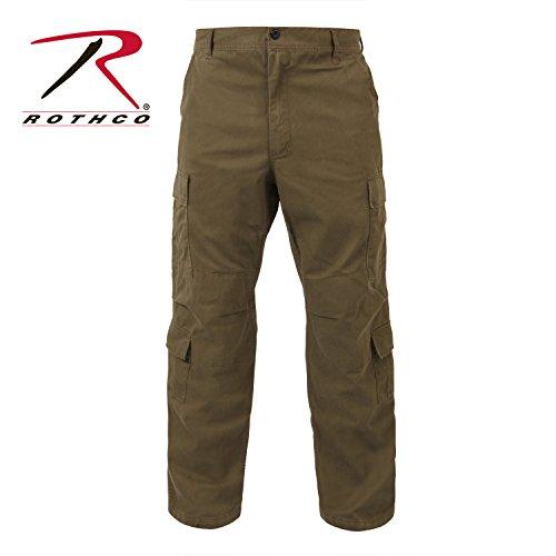 Distressed Vintage BDU Paratrooper Cargo Pants - Khaki - 2XL (Cargo Vintage Khakis)