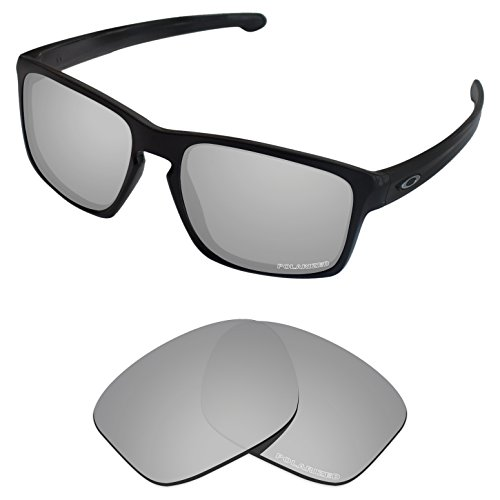 (Tintart Performance Lenses Compatible with Oakley Sliver Polycarbonate Polarized Etched-Silver Metallic)