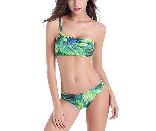 Foglia Costume Bagno Costumi Da Da LIUHAO Costumi Donna Bagno Da Greenleaf Bagno A Costume Costumi Verde Bikini Intero Sexy 2XL Da Bagno UWdW6A
