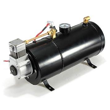 12psi 12 voltios bomba del tanque de aire del compresor de aire Cuernos Vehículo: Amazon.es: Coche y moto