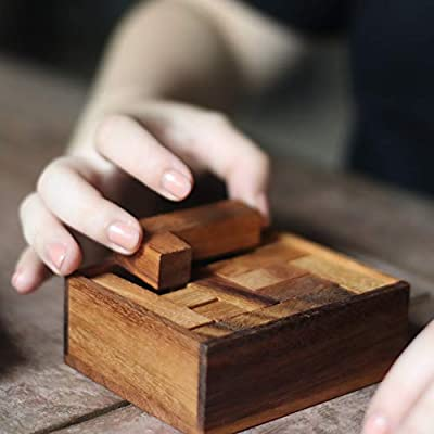 Maze Puzzle: Wooden Puzzle /& 3D Brain Teaser Wooden for Adults from SiamMandalay with SM Gift Box - STEM Stacking Problem Improves IQ Educational Toy Great Gift for Birthday /& Christmas WG-606 Pictured