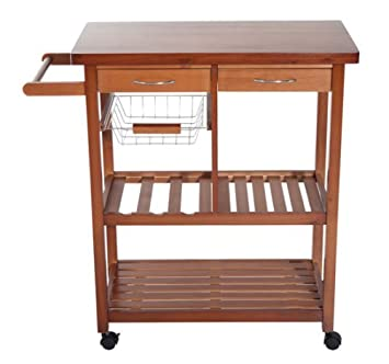 Fabulous New Wood Portable Rolling Home Storage Cart Drawers Kitchen Table Trolley Download Free Architecture Designs Scobabritishbridgeorg
