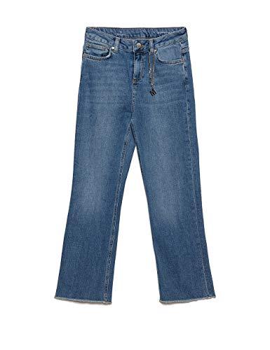 Blu italian Cropped Flare Jeans Motivi Kick Size wRPTxa