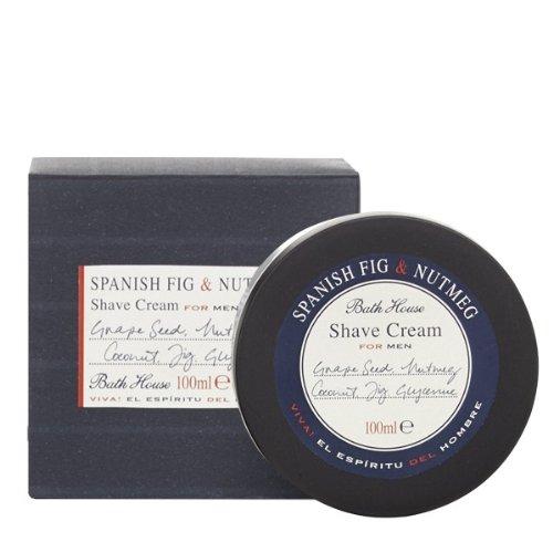 Bath House Spanish Fig & Nut Meg Shaving Cream 100G ()