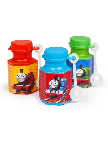 Amscan Cute Thomas The Tank Mini Bubble Birthday Party Favor (Value 24-Pack), 0.6 oz, Blue ()