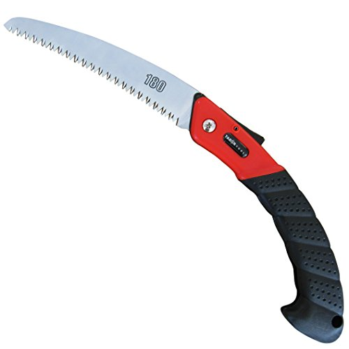 TABOR TOOLS TTS25A Folding Saw with Curved Blade and Rugged Grip Handle, Hand Saw for Pruning Trees, Trimming Branches, Camping, Clearing Forest Trails. by TABOR TOOLS (Image #2)