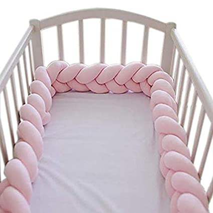 Infants Crib Bumpers Safe Protective Snake Bumpers Baby Home Decoration 59 Gary White Blue