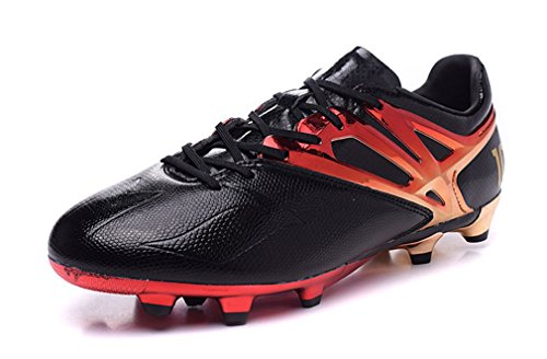 アノイホールロケーション新しいスタイルメンズMessi Editonゴールドボール15 – 1 FGハイトップブラックFootballサッカーブーツ靴