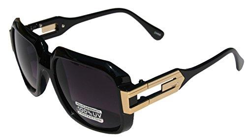 937d23b00e2c VW Eyewear - Large Classic Retro Square Frame RUN DMC Sunglasses with Metal  Accent (Gloss black gold) - Buy Online in Oman.