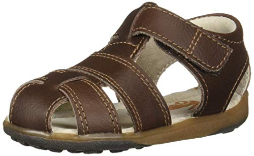 See Kai Run Boys' Jude IV Fisherman Sandal Brown 2Y M US Little Kid