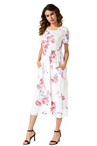 White Floral Dress - 3